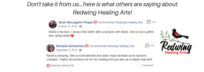 Don't take it from us...here is what others are saying about Redwing Healing Arts! (4)